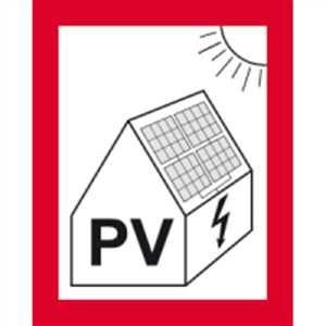 Hinweis auf eine PV-Anlage