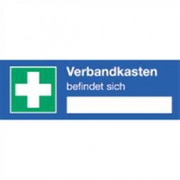 Hinweisschild für einen Verbandskasten
