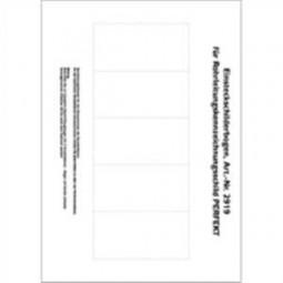 Blanko-Beschriftungsbogen für Rohrleitungsschild - Perfekt