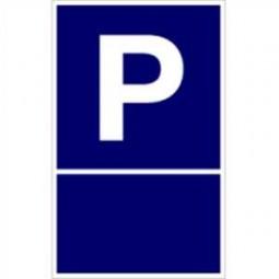 Parkplatzschild zur Selbstbeschriftung