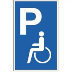 Parkplatzschild - Parkplatz für Behinderte