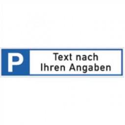 Parkplatzreservierer mit Text nach Ihren Angaben