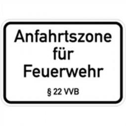 Anfahrzone für Feuerwehr §22 VVB