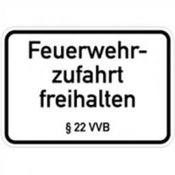 Feuerwehrzufahrt frei halten §22 VVB