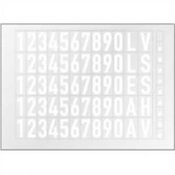 Bogen mit Folienziffern und Buchstaben (weiß)