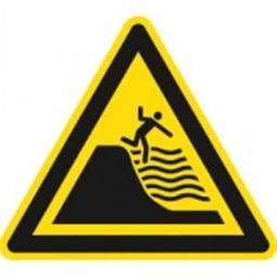 Warnung vor steil abfallendem Strand