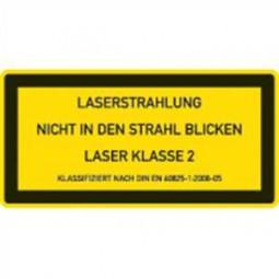 Klasse 2 - Lasereinrichtungen