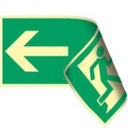 Rettungsweg links / rechts doppelseitig