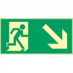 Rettungsweg rechts abwärts