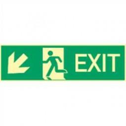 Exit links abwärts