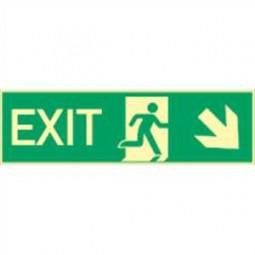 Exit rechts abwärts