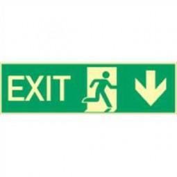 Exit nach unten / Exit durch Ausgang