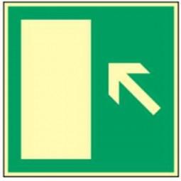 Rettungsweg links aufwärts