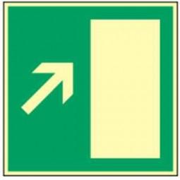 Rettungsweg rechts aufwärts