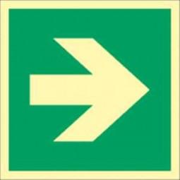 Richtungsangabe gerade