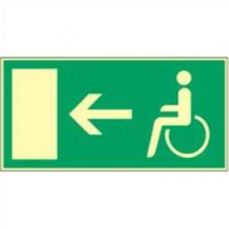 Rettungsweg links für Behinderte