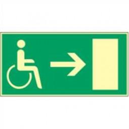 Rettungsweg rechts für Behinderte