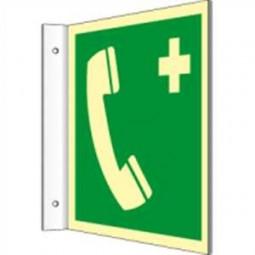 Fahnenschild - Notruftelefon