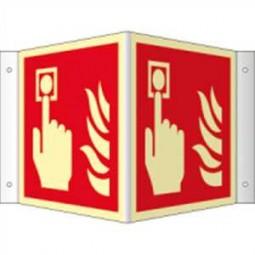 Winkelschild - Brandmelder