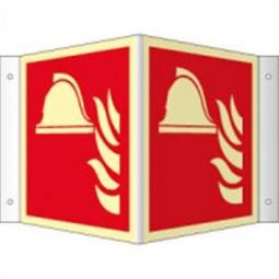 Winkelschild - Mittel und Geräte zur Brandbekämpfung
