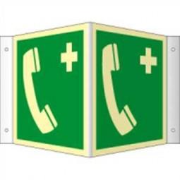 Winkelschild - Notruftelefon