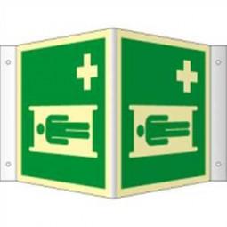 Winkelschild - Krankentrage