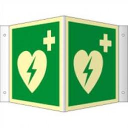 Winkelschild - Defibrillator