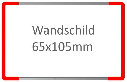 Wandschild Signcode rot, Direktbeschriftung