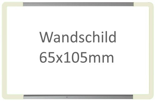 Wandschild Signcode weiss, Direktbeschriftung