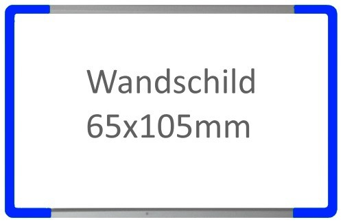 Wandschild Signcode blau, papierflexibel