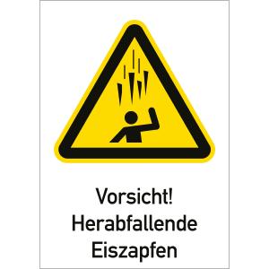 Vorsicht! Herunterfallende Eiszapfen