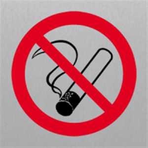 Nichtraucher - Piktogramm für Edlen Wegweiser