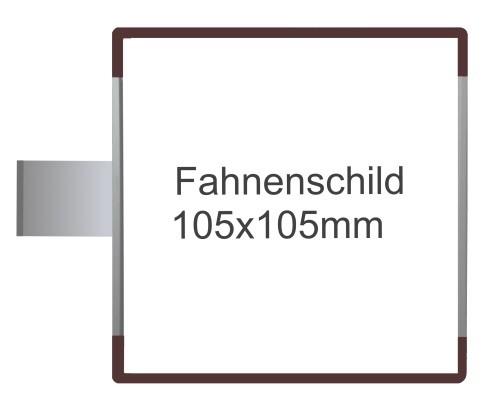 Fahnenschild Signcode braun, papierflexibel