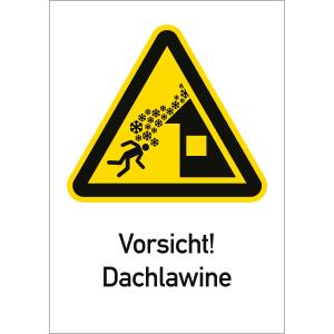 Vorsicht! Dachlawine
