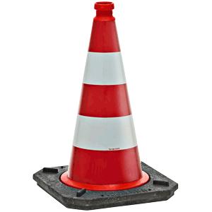 Reflex-Verkehrsleitkegel rot-weiss