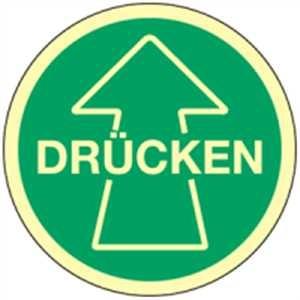 Türhinweis - DRÜCKEN