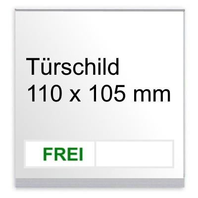 KRISTALLINO.w - Türschild Frei | Besetzt, Schraubmontage