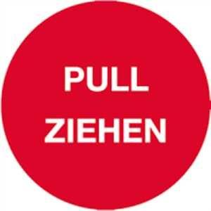 Türhinweis - PULL ZIEHEN