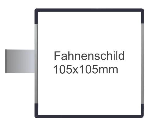 Fahnenschild Signcode antrazit, Direktbeschriftung