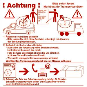 Merkblatt für Transportschäden