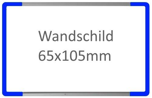 Wandschild Signcode blau, Direktbeschriftung