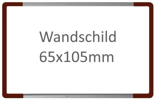 Wandschild Signcode braun, Fixbeschriftung