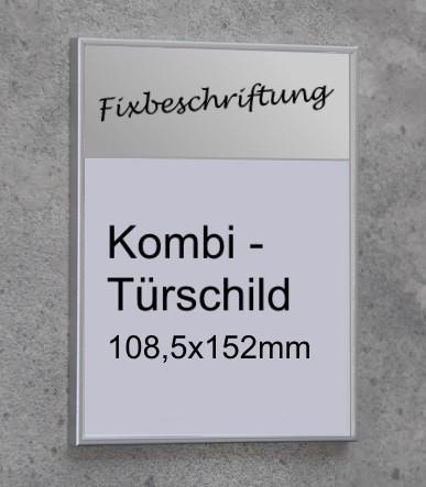 Kombi-Türschild mit einer Paneele
