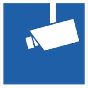 Video-Infozeichen, innenklebend