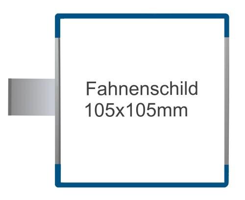 Fahnenschild Signcode blau, papierflexibel
