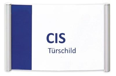 CIS Türschild-Klebemontage