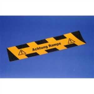 Trittschutzmarkierung - Achtung Rampe