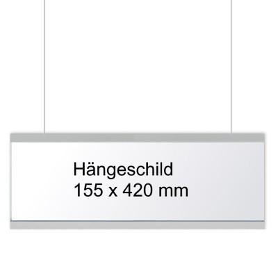 KRISTALLINO.s - Hängeschild, einseitig beschriftbar