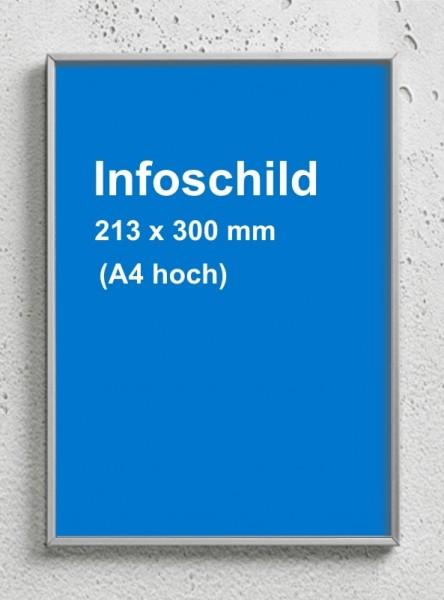 Infoschild A4 hoch