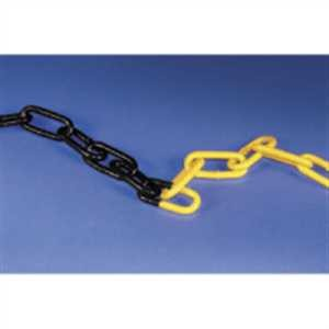 Stahlkette, gelb-schwarz